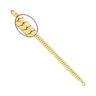 Bransoleta złota taśma kłos PY AFT0054 próba 375
