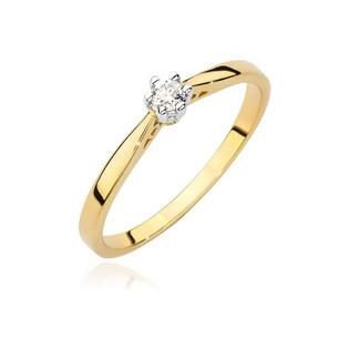 Pierścionek zaręczynowy SOLITER z diamentem BE BC-021 próba 585