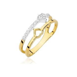 Pierścionek zaręczynowy SERCE z diamentami BE BC-017 próba 585