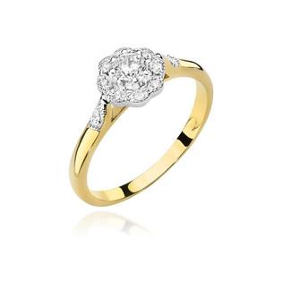 Pierścionek zaręczynowy ANEMON z diamentem BE W-434 próba 585