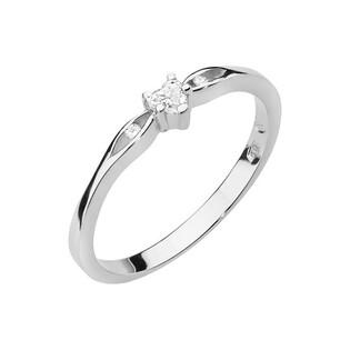 Pierścionek z sercem z diamentu białe złoto próba 585