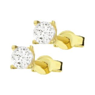 Kolczyki złote z cyrkonią 3 mm MZ T5-E-OS-1-3,00mm-CZ próba 375