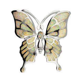 Zawieszka motyl opal biały NI XX18 próba 925