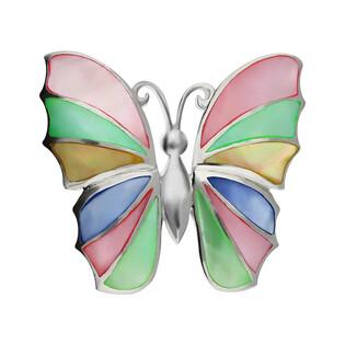 Zawieszka motyl z wielokolorową masą perłową NI XX21 próba 925