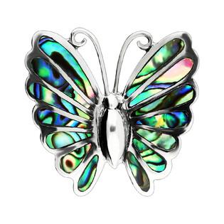 Zawieszka motyl z zieloną masą perłową NI XX22 próba 925