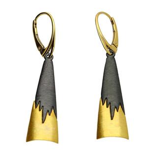 Kolczyki łan złoto-stalowy AG ARTIS A.Głodowski 516 próba 925