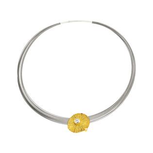 Naszyjnik krater gold z cyrkoniami AG ARTIS A.Głodowski 482 próba 925