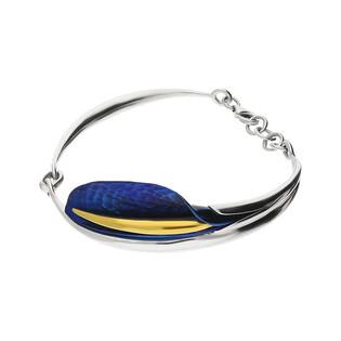 Bransoleta tytanowa liść boczny niebieska OR E-B kalia boczna próba 925
