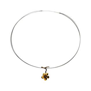 Naszyjnik tytanowy kwiat wiśni/stalki AG ARTIS A.Głodowski 522 próba 925