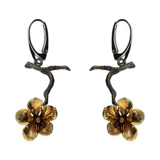 Kolczyki tytanowe kwiat wiśni AG ARTIS A.Głodowski 522 próba 925