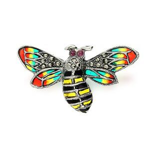 Broszka srebrna pszczoła z witrażem z kolekcji Zahira nr SR 225 Sezam - 1