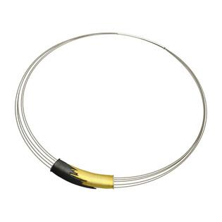 Naszyjnik łan złoto-stalowy AG ARTIS A.Głodowski 516 próba 925