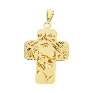 Krzyżyk złoty głowa z wizerunkiem AR XXDCLKP0679-BR próba 585