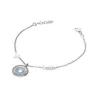 Bransoleta srebrna koło z masą perłową i sercem nr FREEDOM TA BRT9029 próba 925