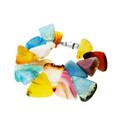 Bransoleta agat mix kolor 3D JV KOR kostki szafirowe próba 925