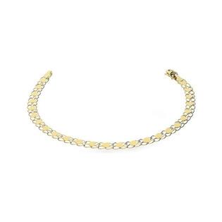Bransoleta złota z serduszkami na taśmie AR XXFOR11B0004 próba 375