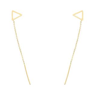 Kolczyki trójkąt ramka/pałąk+rolo-przeciągane AR X5CABLE8E-1813 próba 585