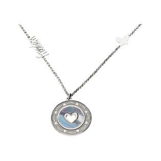 Naszyjnik srebrny koło z masą perłową i motylem nr TA CLT9633 próba 925