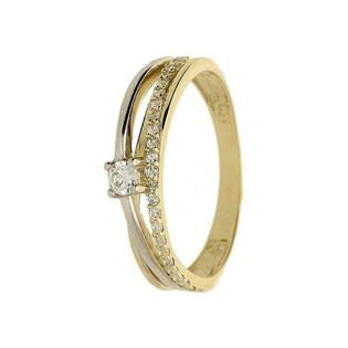 Pierścionek zaręczynowy z cyrkoniami nr NB NB990 14 karat Sezam - 1