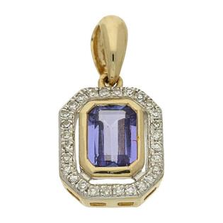 Zawieszka złota tanzanitem i diamentami nr AW 36151 Y-TA