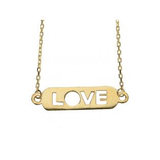 Naszyjnik złoty blaszka pozioma LOVE nr MX 27N1728 Au 333