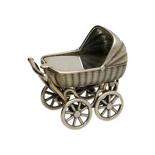 Pamiątka Chrztu Świętego wózek srebrny numer TB Ok4