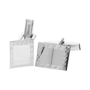 Spinki do mankietów srebrne prostokąt z wzorem greckim nr. AT SP030 próba 925