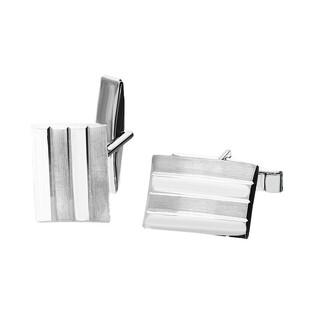 Spinki do mankietów srebrne prostokąt z paskami nr. AT SP032 próba 925