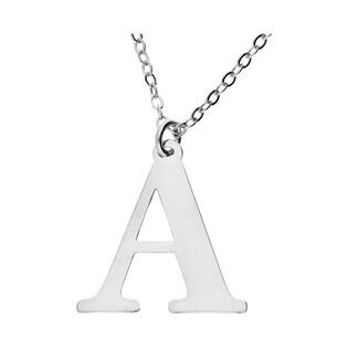 Naszyjnik srebrny literka A nr. AT204-A ROD próba 925