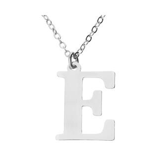 Naszyjnik srebrny literka E nr. AT204-E ROD próba 925