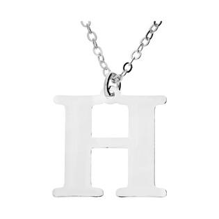 Naszyjnik srebrny literka H nr. AT204-H ROD próba 925
