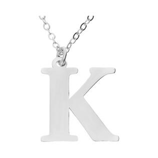 Naszyjnik srebrny literka K nr. AT204-K ROD próba 925
