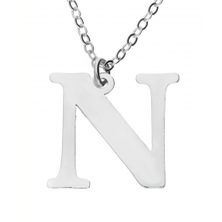 Naszyjnik srebrny literka N nr. AT204-N ROD próba 925