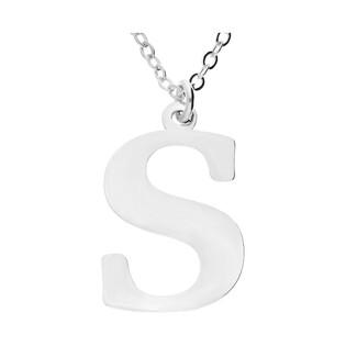 Naszyjnik srebrny literka S nr. AT204-S ROD próba 925