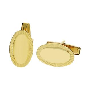 Spinki złote do mankietów owalne numer PF03-SP Au 585