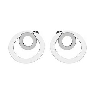 Kolczyki RIANA srebrne kółko w kółku nr RT OR23231 próba 925