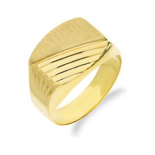 Sygnet złoty satynowy AR 0088 próba 333