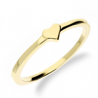 Pierścionek złoty z gładkim sercem nr MZ R2017-51 próba 585