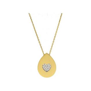 Naszyjnik złoty z cyrkoniami numer MZ P0716-1-CHAIN-1 AU 585