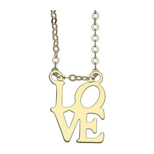 Naszyjnik złoty z napisem LOVE/rolo nr BC 006 próba 585