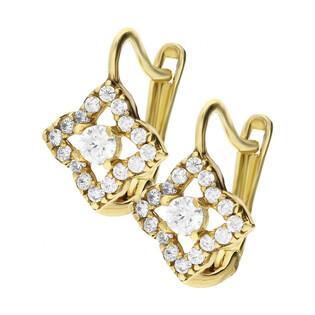 Kolczyki złote z cyrkoniami nr MZ T5-E-CK1041-CZ