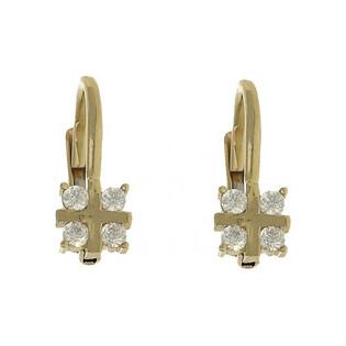 Kolczyki złote z cyrkoniami nr AR CE4205-III-DC-FCZ, Au 333