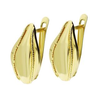 Kolczyki złote blaszki na angielskie zapięcie nr AR 7865 Au 333