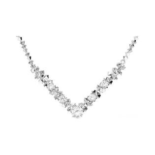 Naszyjnik srebrny z kryształami Swarovski GRACE RD 665-1 cal próba 925 Sezam - 1
