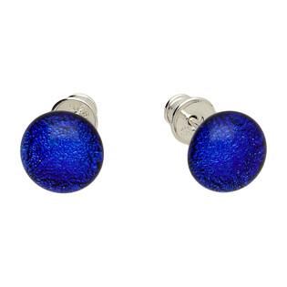 Kolczyki FLORENTINA blue KQ SZT827 próba 925 Murano - 1