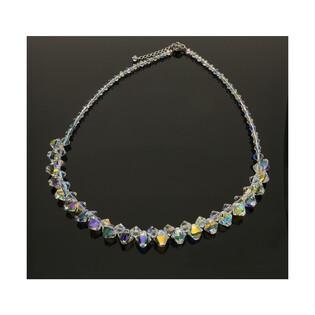 Srebrny naszyjnik GRACE z kryształami RD 375-1 próba 925 Sezam - 1