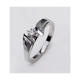 Pierścionek zaręczynowy z diamentem PASSION MC P5 białe złoto próba 585 Sezam - 1