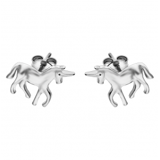 Kolczyki srebrne jednorożec blask OL HAY-E023 próba 925