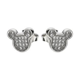 Komplet Myszka Miki z cyrkoniami srebrne kolczyki i zawieszka AT-233 próba 925