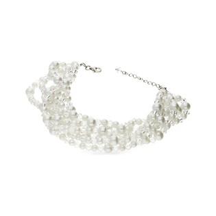 Bransoleta srebrna z perłami i kryształami GRACE RD 624-1 próba 925